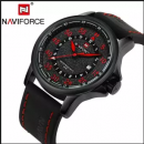 Naviforce Nf907m Auto Date/day Function Analog Watch For Men-(red/black)
