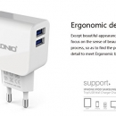 Ldnio 2.1a Dual Usb Port Charger Ac56 With Iphone / Android Cable