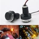 2x Motorcycle Drl/turn Signal Led Light Blinker Indicator Handle Bar O