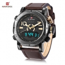 Naviforce Nf9094 Double Time Function Analog/digital Watch For Men