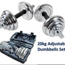 Chrome Dumbell Set 20kg