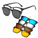 5 In 1 Magnetic Sunglasses Club Master Model