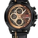 Naviforce Nf9110 Luxury Chronograph Analog Watch For Men Golden/blac