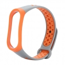 Sport Soft Wristband Wrist Strap For Xiaomi Mi Band 3 (grey Orange)