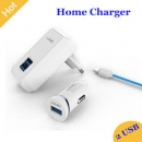 Ldnio 3 In 1 2.1a Charger S100 With Cable And 2.1a Smart Car Charger