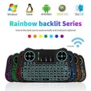 Rainbow Backlit Mt08 Wireless Mini Keyboard Touchpad For Android Tvbox