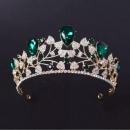 Faux Ruby Emerald Teal And Aquamarine Tiara / Crown