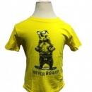 Bear Printed Yellow T-shirt
