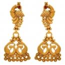 Gold Plated Long Designer Earrings
