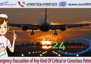 The Complete ICU Support Air Ambulance Service in Patna by Medilift