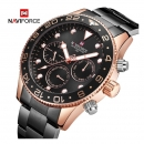 Naviforce Nf9147 Day Date Function Business Chronograph Watch Rosego