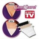 Cami Secret Set Of 3 Clip-on Camisole- Black/white/beige